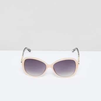 Rectangular Sunglasses with Printed Temple