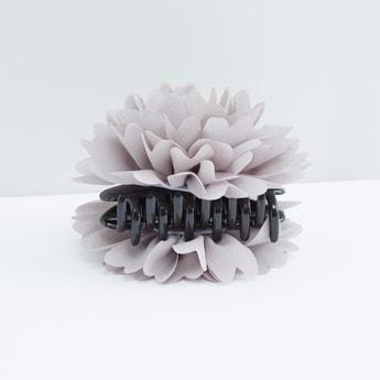 Flower Applique Hair Clamp