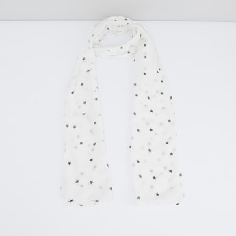 Star Printed Scarf