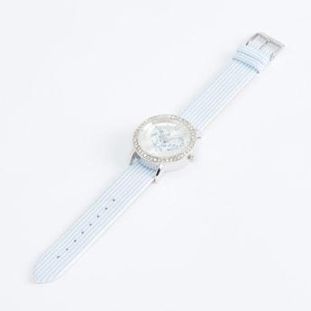 Studded Round Wristwatch with 3 Straps