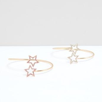 Star Studded Cuff Bracelet - Set of 2