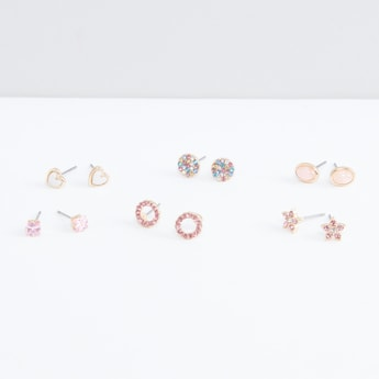 Assorted Embellished Earrings - Set of 6