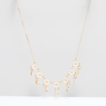 Floral Studded Necklace