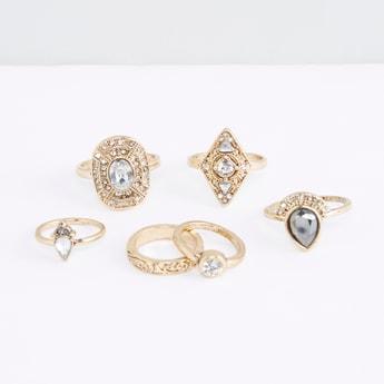 Set of 6 - Metallic Finger Ring