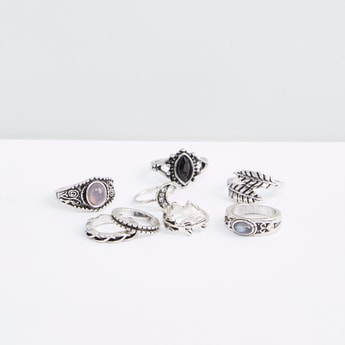 Set of 8 - Metallic Finger Ring