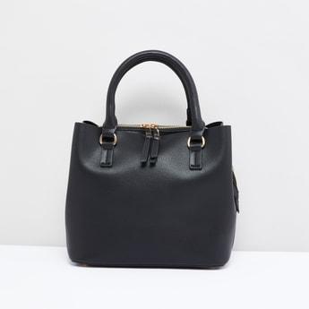 حقيبة يد بارزة الملمس بمقبض صغير