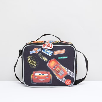 Cars Print Rectangular Lunch Bag with Adjustable Strap