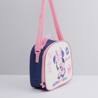 Minnie Mouse Printed Lunch Bag with Shoulder Strap