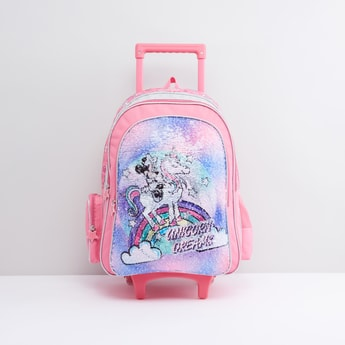 Minnie Mouse Trolley Backpack with Zip Closure