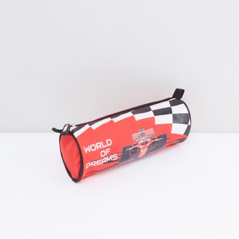 Race Car Printed Pencil Pouch with Zip Closure