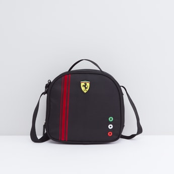 Embellished Lunch Bag with Zip Closure