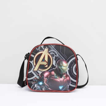 Avengers Print Lunch Bag with Adjustable Sling Strap