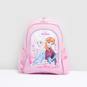 Frozen Printed Backpack with Adjustable Shoulder Straps and Top Handle