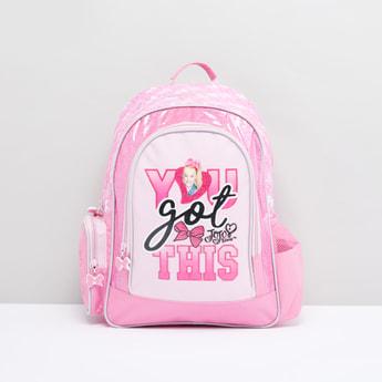JoJo Siwa Printed Backpack with Adjustable Shoulder Straps