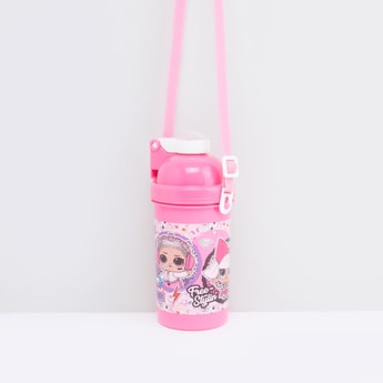 Printed Water Bottle with Straw