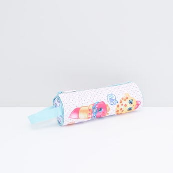 Shopkins Printed Pencil Case with Zip Closure and Wristlet