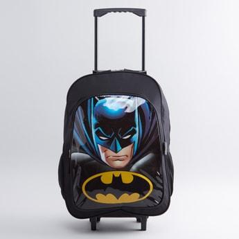 طقم حقيبة ظهر بعجلات مع طبعات باتمان 5- قطع