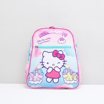Hello Kitty Printed Backpack with Shoulder Straps