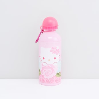 Hello Kitty Print Aluminum Water Bottle