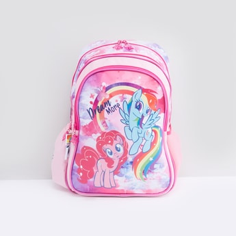 Unicorn Printed Backpack with Zip Closure