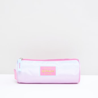 Round Pencil Case with Zip Closure