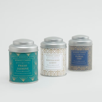 Set of 3 - Scented Jar Candles