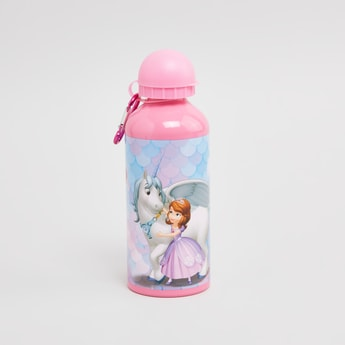 Sofia the First Printed Water Bottle with Push Pull Sipper