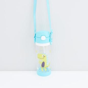 Dino Print Plastic Water Bottle