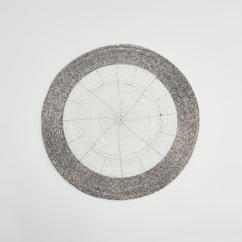 Beaded Round Placemat - 36x36 cms