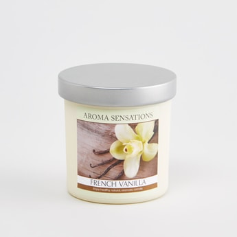 Aroma Sensations French Vanilla Candle Jar - 80 cms