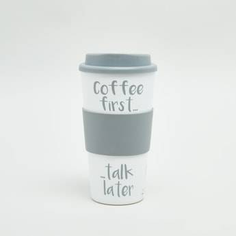 Printed Travel Coffee Mug wih Lid
