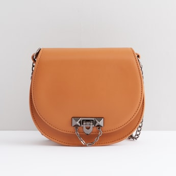Embellished Crossbody Bag with Chain Strap