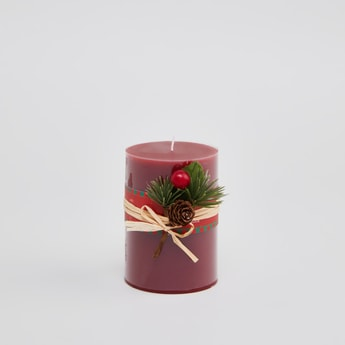 Applique Detail Scented Pillar Candle