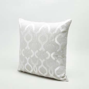 Printed Square Filled Cushion - 43x43 cms