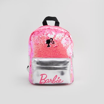 Barbie Sequin Detail Backpack with Zip Closure and Adjustable Straps