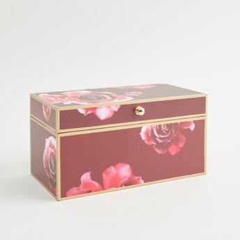 Floral Print Rectangular Box - 13 cms
