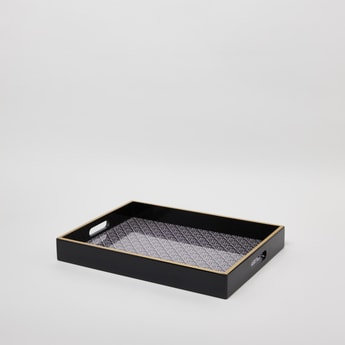 Decorative Tray with Cutout Handles - 30 cms