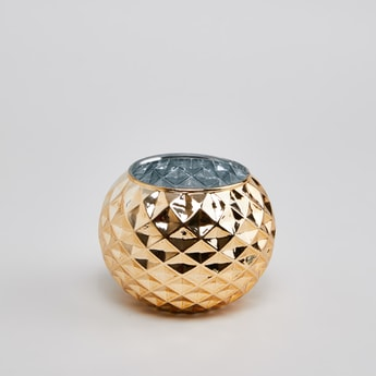 Faceted Candle Holder - 15 cms