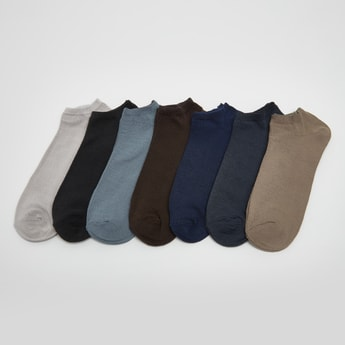 Set of 7 - Textured Ankle Length Socks