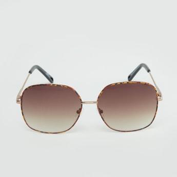 Printed Full Rim Wayfarer Sunglasses with Temple Tips