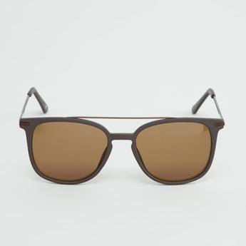 نظارة شمسية بإطار كامل وتزيينات علوية