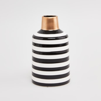 Striped Ceramic Vase - 12 cms