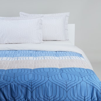 Printed Cotton 3-Piece Comforter Set - 220x230 cms