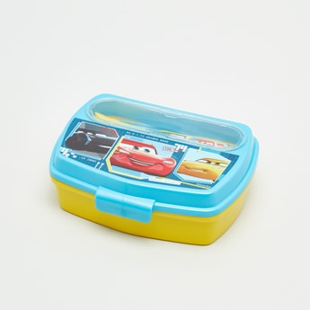 Cars Printed Lunchbox with Fork and Spoon