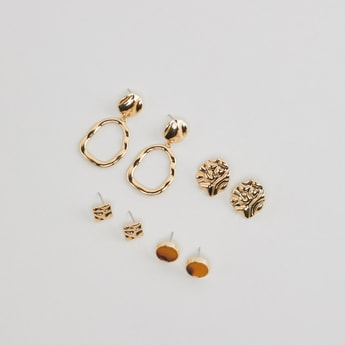 Set of 4 - Earrings with Pushback Closure