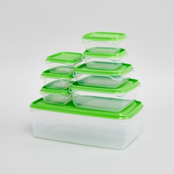 Set of 8 Salsa Containers with Contrast Lid