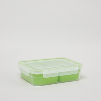 Lunchbox with 3 Compartments and Clip Closure