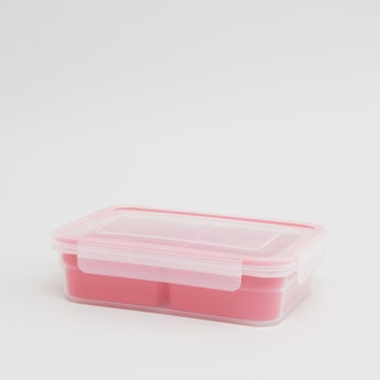 See Through Lunchbox with 3-Section Container and Lid