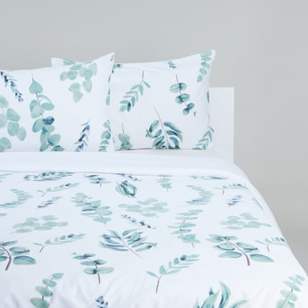Printed Duvet Cover and Pillow Case Set - 200x200 cms