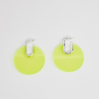 Round Dangling Earrings with Pushback Closure